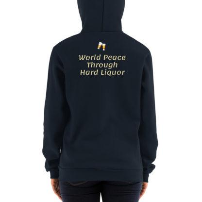 Hoodie sweater - World Peace Thru Hard Liquor