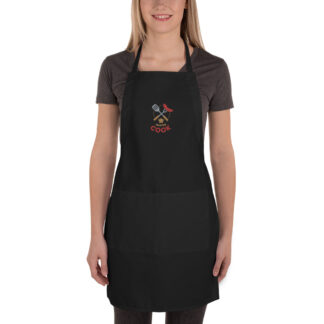 embroidered apron black 6003653105bf6