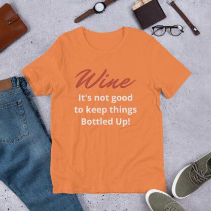 unisex premium t shirt burnt orange front 60a8648183766