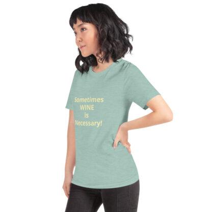 unisex premium t shirt heather prism dusty blue left front 60a839983c03e