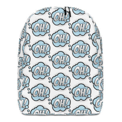 all over print minimalist backpack white front 60edfc0cd71c5