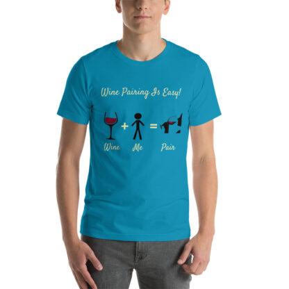 unisex staple t shirt aqua front 60ec9833844b7