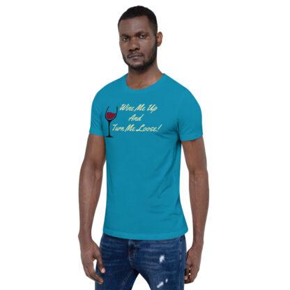 unisex staple t shirt aqua left front 60ef34efe8496
