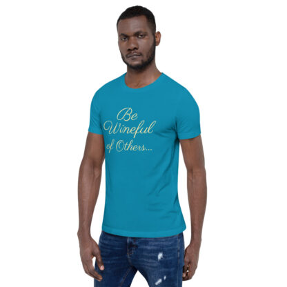 unisex staple t shirt aqua left front 60f5f837ec117