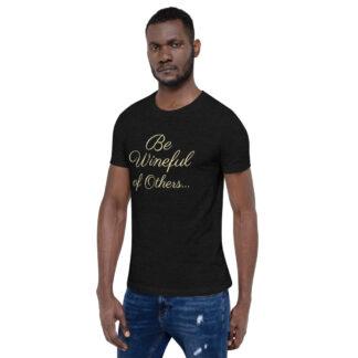 unisex staple t shirt black heather left front 60f5f837ea035