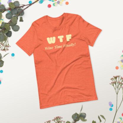 unisex staple t shirt heather orange front 2 60f21c44292bd