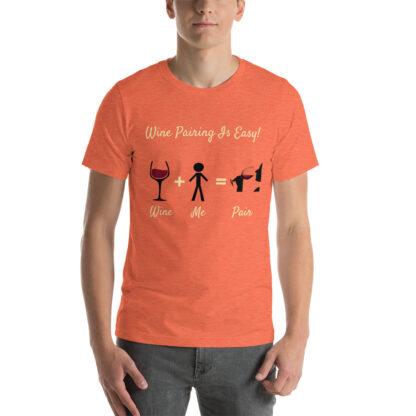 unisex staple t shirt heather orange front 60ec983385a9e