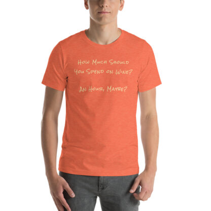 unisex staple t shirt heather orange front 60ec9f6eec767