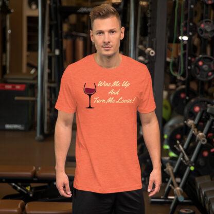 unisex staple t shirt heather orange front 60ef34efe50df