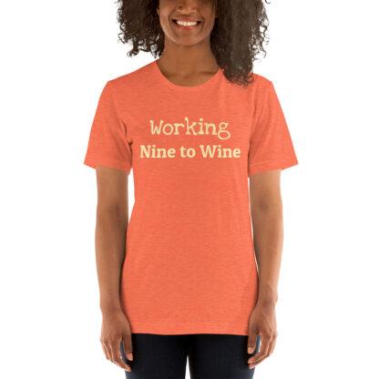 unisex staple t shirt heather orange front 60f21ae51e95c