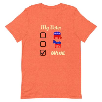 unisex staple t shirt heather orange front 60f46b908089d