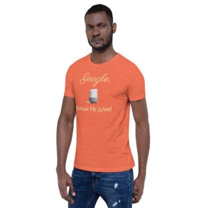 unisex staple t shirt heather orange left front 60ecf9406e6b3