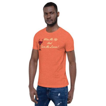 unisex staple t shirt heather orange left front 60ef34efe9fc1