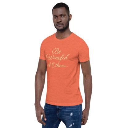 unisex staple t shirt heather orange left front 60f5f837ed30f