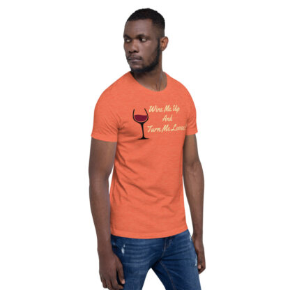unisex staple t shirt heather orange right front 60ef34efea925