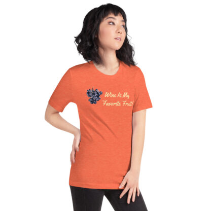 unisex staple t shirt heather orange right front 60ef35ffe985a