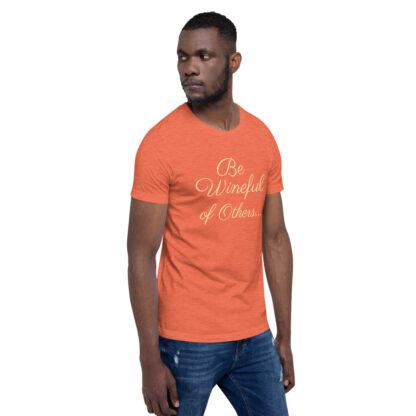 unisex staple t shirt heather orange right front 60f5f837ed9fb