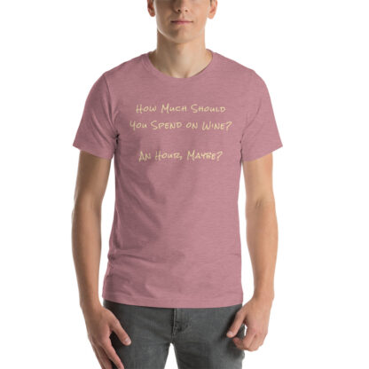 unisex staple t shirt heather orchid front 60ec9f6eee756