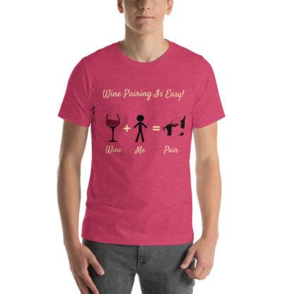 unisex staple t shirt heather raspberry front 60ec98338549a