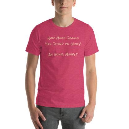 unisex staple t shirt heather raspberry front 60ec9f6eedb34