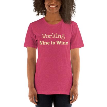 unisex staple t shirt heather raspberry front 60f21ae51e349