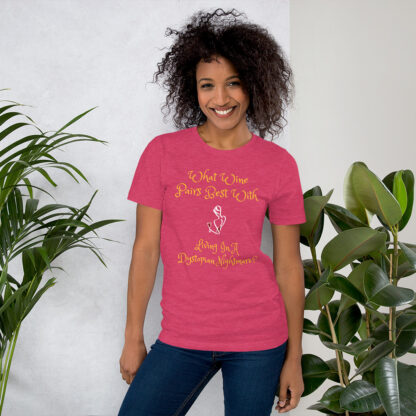 unisex staple t shirt heather raspberry front 60f58e42c87c3