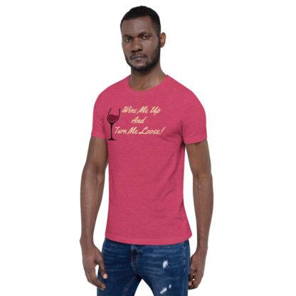 unisex staple t shirt heather raspberry left front 60ef34efe70dc