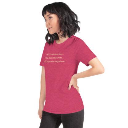 unisex staple t shirt heather raspberry left front 60f4dfcd4e35f