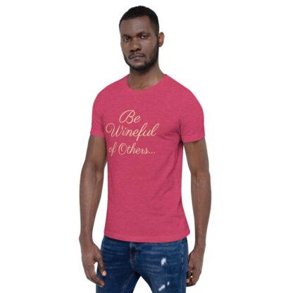unisex staple t shirt heather raspberry left front 60f5f837eb3b1