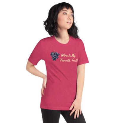 unisex staple t shirt heather raspberry right front 60ef35ffe27df