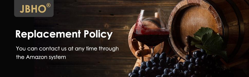 Hand Blown Italian Style Crystal Burgundy Wine Glasses