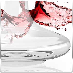 Red wine decanter made with 100 percent lead free crystal