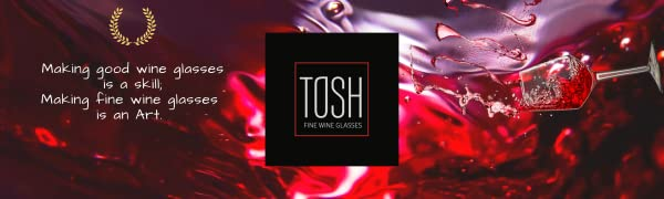 TOSH Wine Glasses Logo